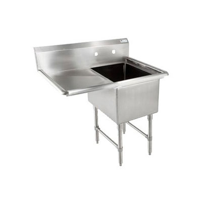 "John Boos 1B18244-1D24L 46"" 1-Compartment Sink w/ 18""L x 24""W Bowl, 14"" Deep"