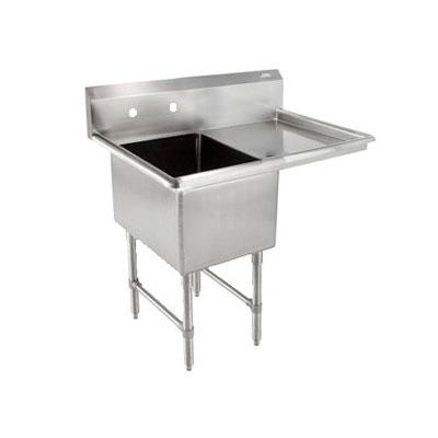 """John Boos 1B16204-1D18R 38"""" 1-Compartment Sink w/ 16""""L x 20""""W Bowl, 14"""" Deep"""