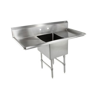 "John Boos 1B18244-2D24 69"" 1-Compartment Sink w/ 18""L x 24""W Bowl, 14"" Deep"