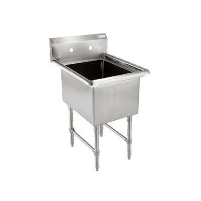 "John Boos 1B18244 23"" 1-Compartment Sink w/ 18""L x 24""W Bowl, 14"" Deep"