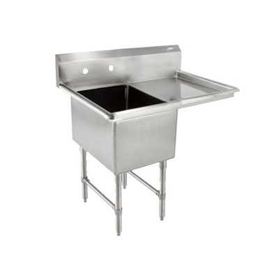 "John Boos 1B18244-1D24R 46"" 1-Compartment Sink w/ 18""L x 24""W Bowl, 14"" Deep"
