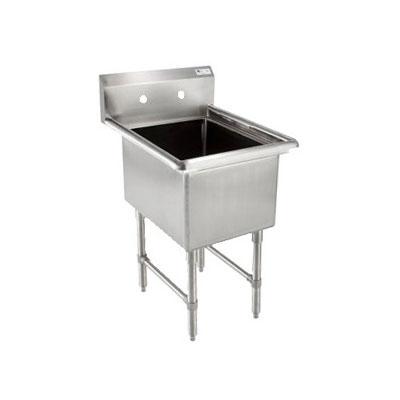 """John Boos 1B18244 23"""" 1-Compartment Sink w/ 18""""L x 24""""W Bowl, 14"""" Deep"""