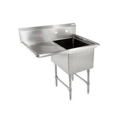 """John Boos 1B184-1D18L 40"""" 1-Compartment Sink w/ 18""""L x 18""""W Bowl, 14"""" Deep"""