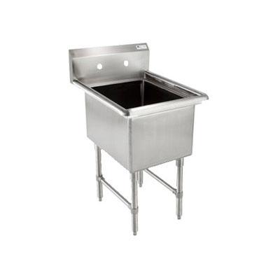 """John Boos 1B184 23"""" 1-Compartment Sink w/ 18""""L x 18""""W Bowl, 14"""" Deep"""