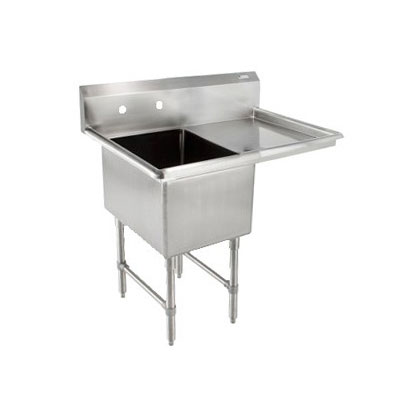 "John Boos 1B244-1D24R 52"" 1-Compartment Sink w/ 24""L x 24""W Bowl, 14"" Deep"