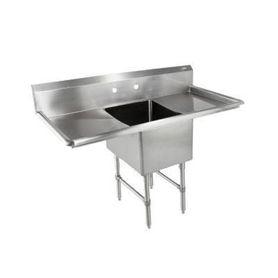 """John Boos 1B244-2D24 75"""" 1-Compartment Sink w/ 24""""L x 24""""W Bowl, 14"""" Deep"""