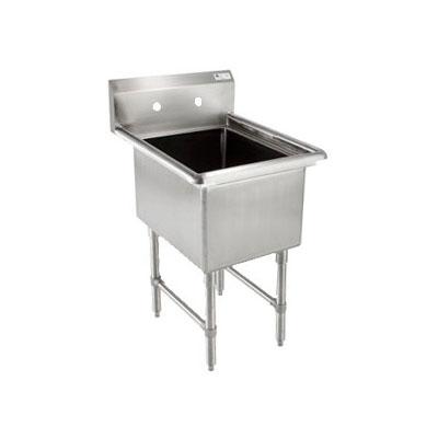 """John Boos 1B244 29"""" 1-Compartment Sink w/ 24""""L x 24""""W Bowl, 14"""" Deep"""