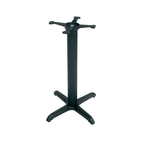 "John Boos 2015B40 22"" Table Base for 24-30"" Tops - 10"" Spider Size, 40"" H, Cast Iron"