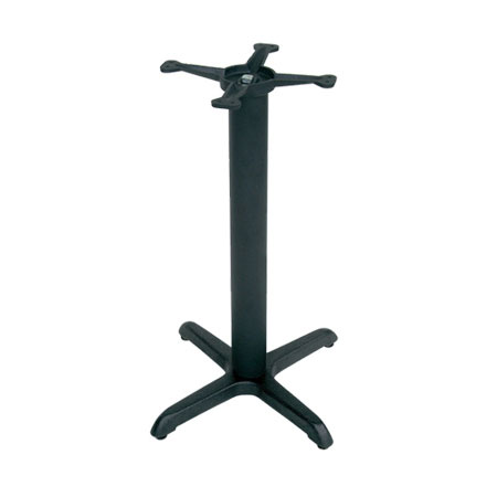 "John Boos 2015B 22"" Table Base for 24-30"" Tops - 10"" Spider Size, 28"" H, Cast Iron"