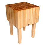 "John Boos AA01 16"" Maple Top Butcher Block Work Table - 24""L x 18""D"