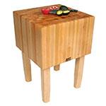 "John Boos AA02 16"" Maple Top Butcher Block Work Table - 24""L x 24""D"