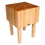 "John Boos AA04 16"" Maple Top Butcher Block Work Table - 30""L x 30""D"