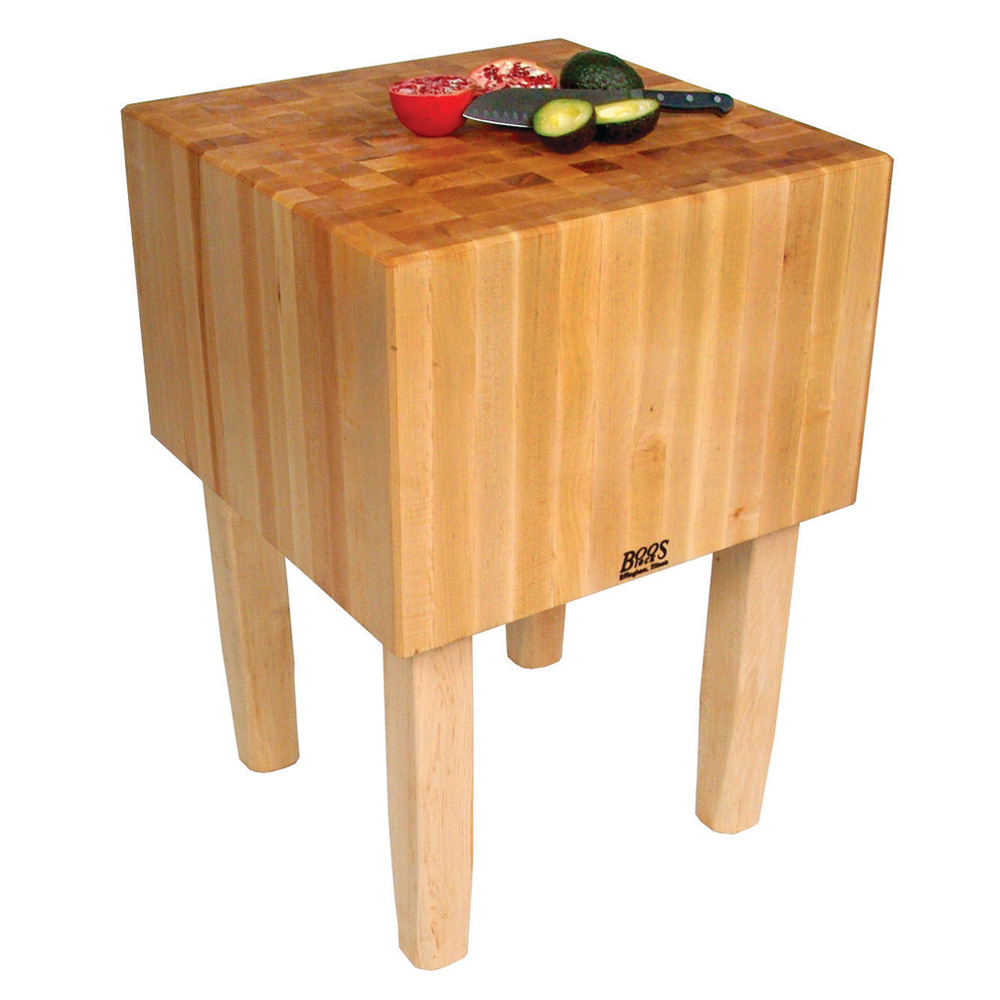 "John Boos AA05 16"" Maple Top Butcher Block Work Table - 35""L x 30""D"
