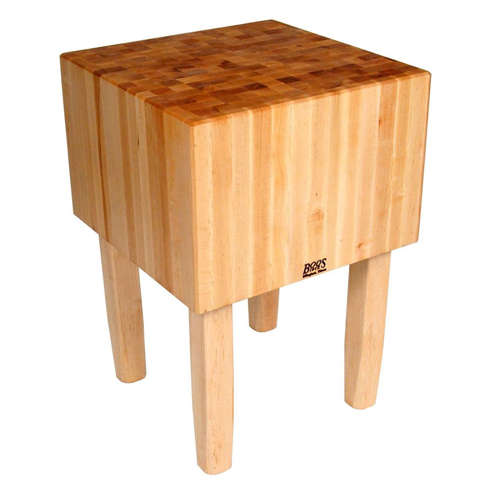 "John Boos AA06 16"" Maple Top Butcher Block Work Table - 40""L x 30""D"