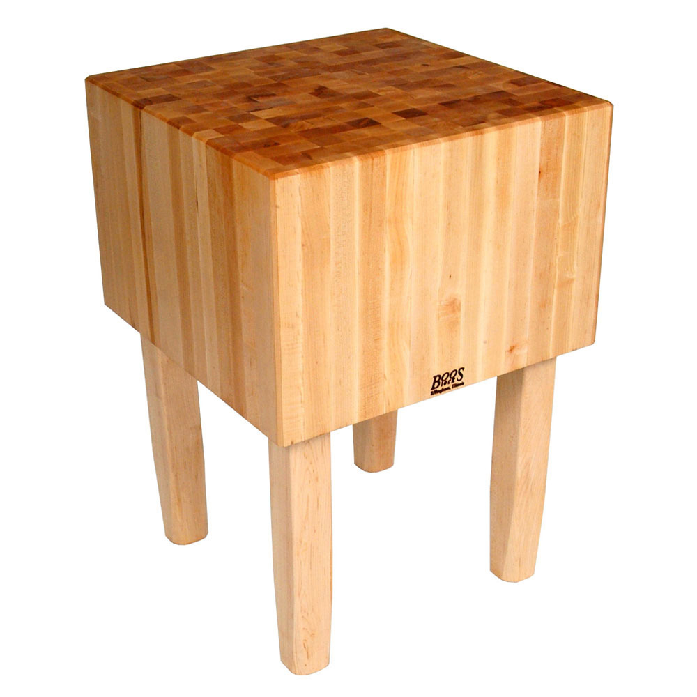 "John Boos AA13 16"" Maple Top Butcher Block Work Table - 60""L x 35""D"