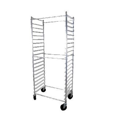 """John Boos ABPR-1820-3KDS Standard Mobile Pan Rack w/ 20-Pan Capacity & 3"""" Pan Spacing, Aluminum"""