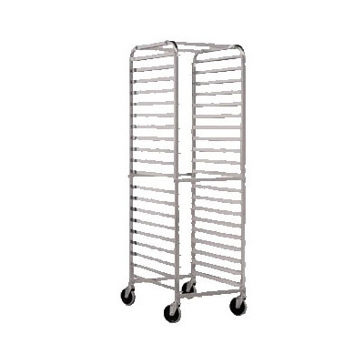 John Boos ABPR-1820-RKD Rounded Top Mobile Aluminum Dunnage Rack w/ 20-Pan Capacity, 26 x 20.5 x 69-in