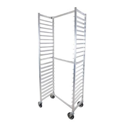 "John Boos ABPR-1820-ZNS Nesting Top Mobile Pan Rack w/ 20-Pan Capacity & 3"" Pan Spacing, Aluminum"