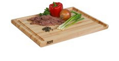 John Boos AUJ2015125 Cutting Board, Grooved, 15x20x2.25-in, Edge Grain, Hard Rock Maple