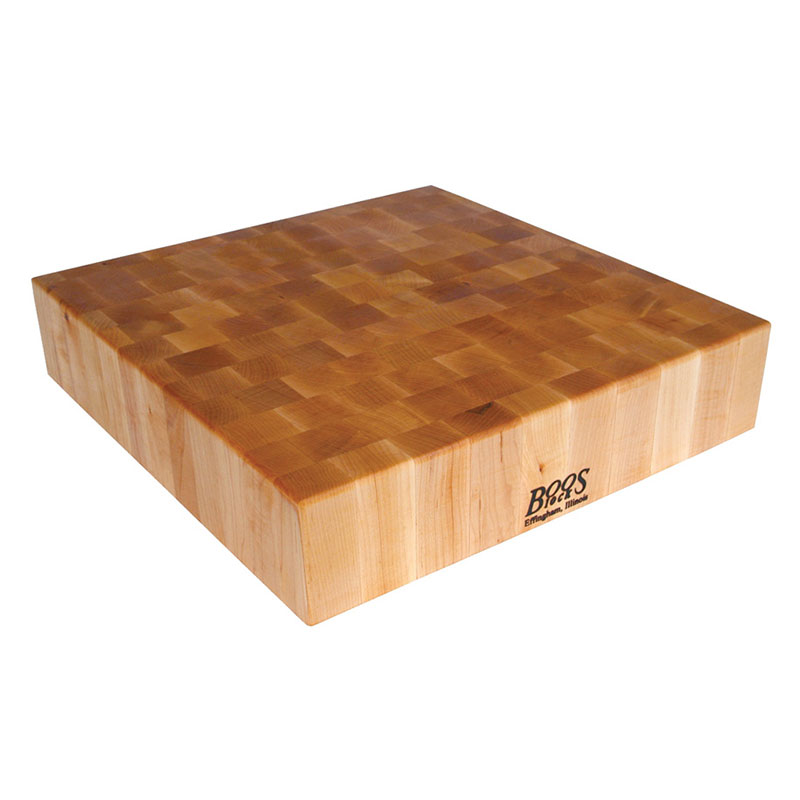 John Boos BB01 Chinese Chopping Block, 24x24x6-in, Hard Rock Maple, Reversible