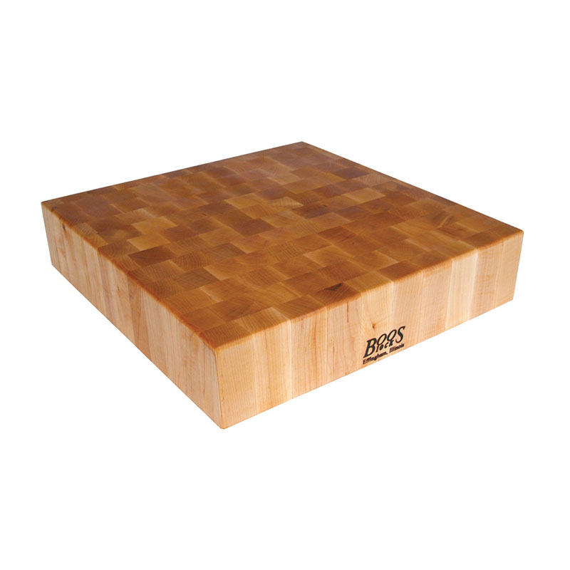John Boos BB03 Chinese Chopping Block, 30x30x6-in, Hard Rock Maple, Reversible