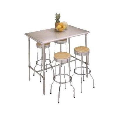 "John Boos BBSS4830-40 48"" 18-ga Work Table w/ Open Base & 300-Series Stainless Flat Top"