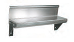 "John Boos BHS524R6 5x24"" Wall Shelf - 4"" Riser, 16-ga Stainless"
