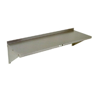 "John Boos BHS5486 5x48"" Wall Shelf - 16-ga Stainless"