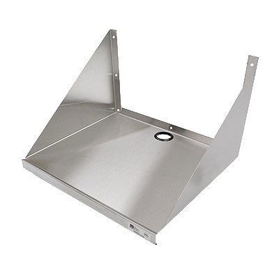 "John Boos BMS2024 24"" Wall Mount Microwave Shelf w/ Safety Edge Front, Stainless"