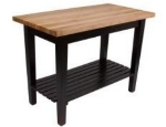 "John Boos C4824SBK Classic Country Hard Maple Table, 48 x 24 x 36"" H, Black"