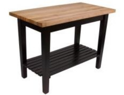 John Boos C4824BK Classic Country Hard Maple Table, 48 x 24 x 36-in H, Black