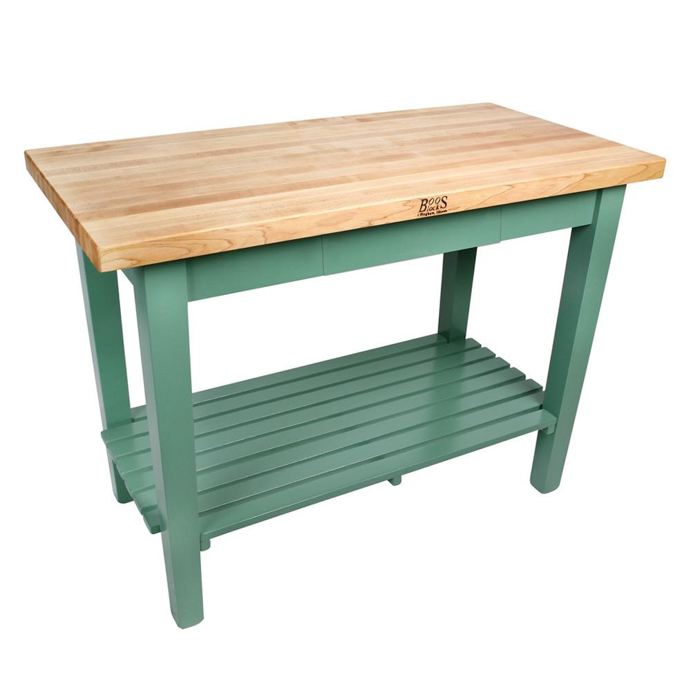 John Boos C6024-S-N Country Work Table, Hard Rock Maple, 60 x 24 in, 1 Shelf
