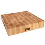 John Boos CCB151503 Chinese Chopping Block w/ Grips, 15x15x3-in, Hard Rock Maple, Reversible