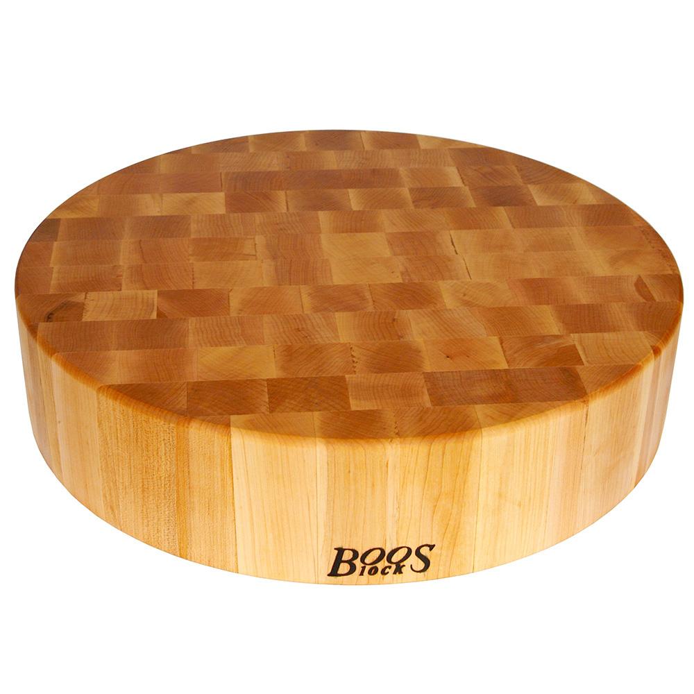 """John Boos CCB18-R Chopping Block, 18"""" Dia, 4"""" Hard Rock Maple End Grain"""