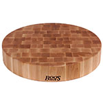 "John Boos CCB24-R Chopping Block, 24"" Dia, 4"" Hard Rock Maple End Grain"
