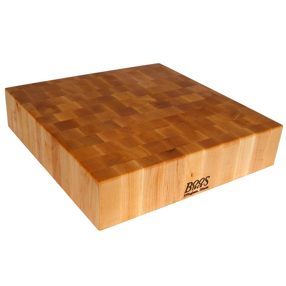 """John Boos CCB24-S Chopping Block, 24 x 24"""", 4"""" Hard Rock Maple End Grain"""