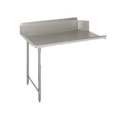 "John Boos CDT6-S36GBK-L Straight Clean Dishtable w/ Galvanized Legs, 36x30"", R-L"