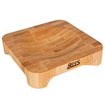 John Boos CHB-1010 Maple Mezzaluna Herb Board, 10 in x 10 in, 2 in Thick