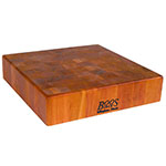 "John Boos CHY-CCB143-S Cherry Wood Chopping Block, Non-Reversible, 14"" Square 3"" End Grain"