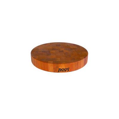"John Boos CHY-CCB15-R Cherry Wood Chopping Block, Non-Reversible, 15"" Diameter 3"" End Grain"