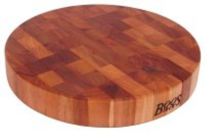 John Boos CHY-CCB183-R Cherry Wood Chopping Block, Non-Reversible, 18 in Diameter 3 in End Grain