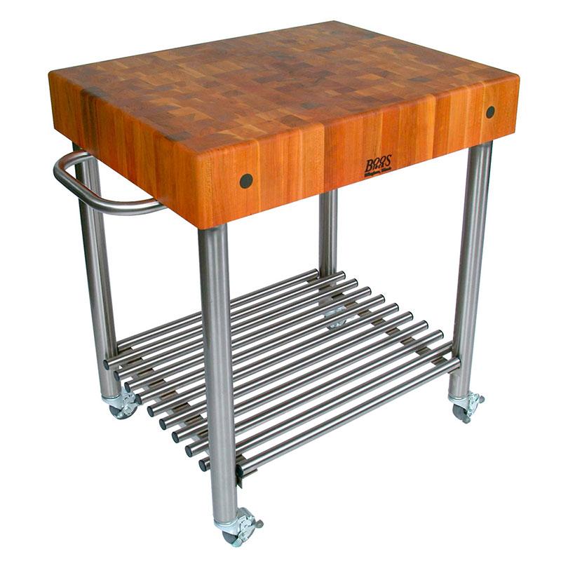 """John Boos CHY-CUCD15 Cucina D' Amico Cart w/ Cherry Top, 30 x 24"""" x 35"""" H"""