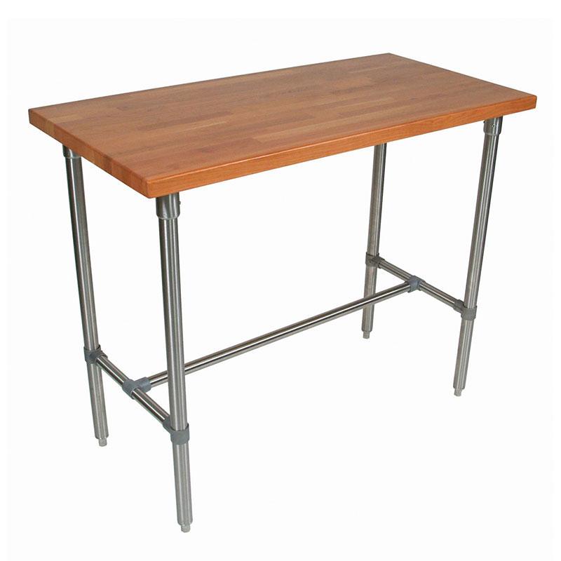 "John Boos CHY-CUCKNB424-40 Cucina Americana Classico Table, Cherry, 48 x 24 x 40"" H"