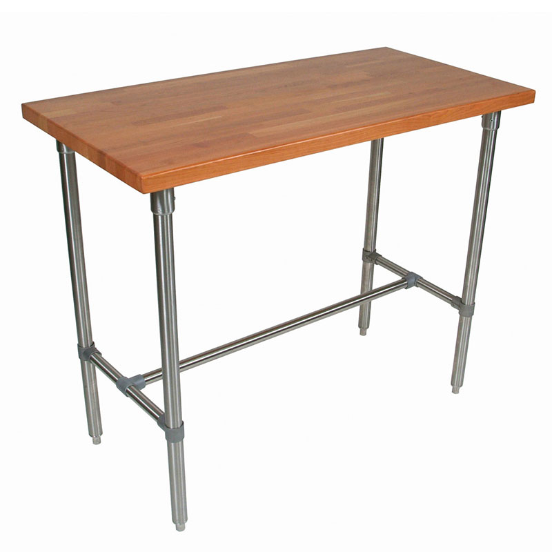 John Boos CHY-CUCKNB430 Cucina Americana Classico Table, Cherry, 48 x 30 x 36-in H
