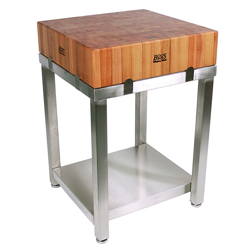 John Boos CHY-CUCLA24T Butcher Block w/ Cherry End Grain Top w/ Boos Block Cream Finish, 24x24x6""
