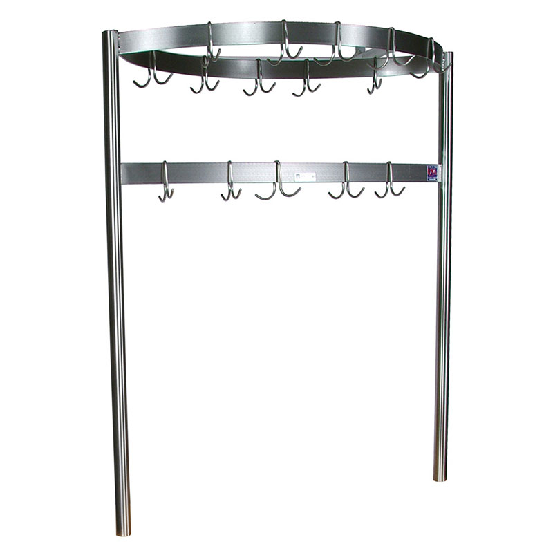 John Boos CPRB01 Pot Rack w/ 12-Double Hooks, Boat Shaped, 48x2x.18""