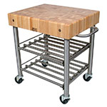 John Boos CUCD15WC Wine Cart w/ Hard Rock Maple Top, 24x30x35""