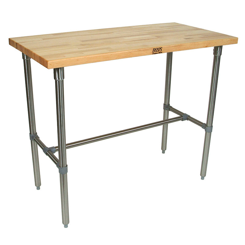 John Boos CUCNB08 Cucina Americana Classico Table, Hard Maple, 48 x 30 x 36-in H