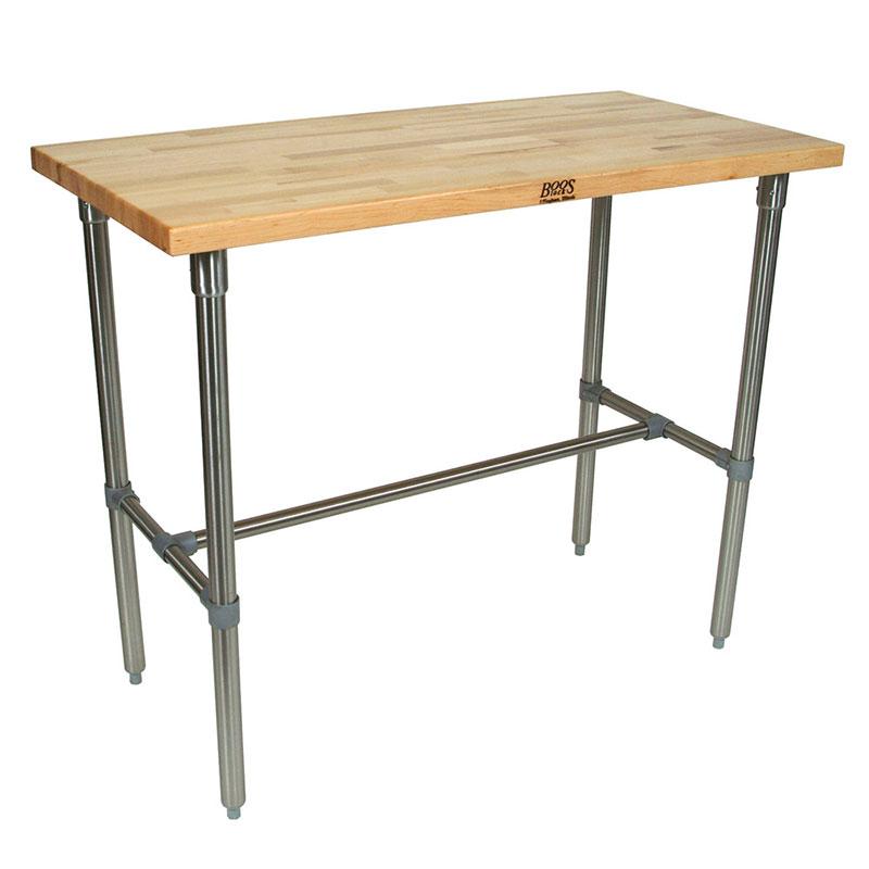 "John Boos CUCNB08 Cucina Americana Classico Table, Hard Maple, 48 x 30 x 36"" H"