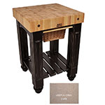 "John Boos CU-GB25-UG 25"" Gathering Block Table, Hard Maple Top w/ Useful Gray Stain Base"